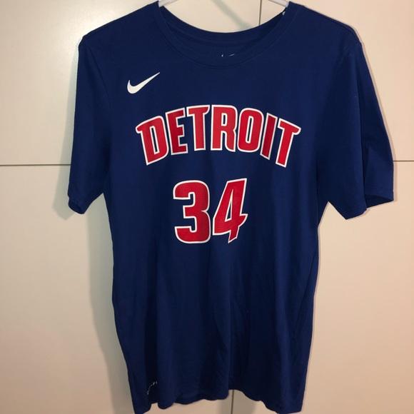 outlet store 69f6a 43193 NWOT Authentic Tobias Harris Detroit Pistons Shirt
